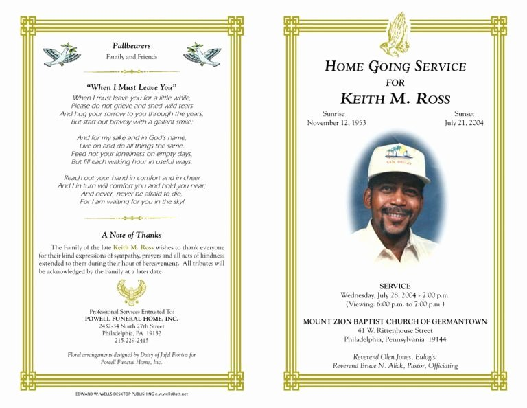 Funeral Program Templates Free Luxury Blank Funeral Program Template Best Photos Of Free Funeral