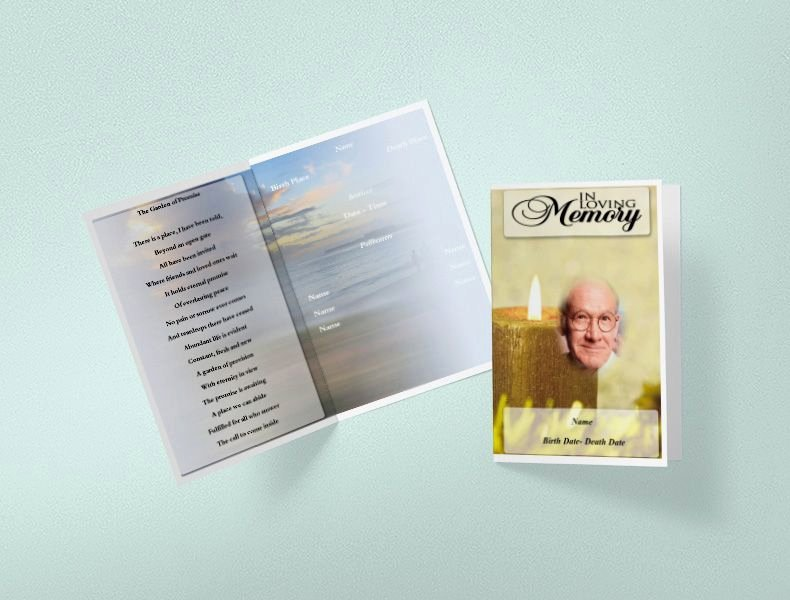 Funeral Program Templates Free Luxury Free Funeral Program Template