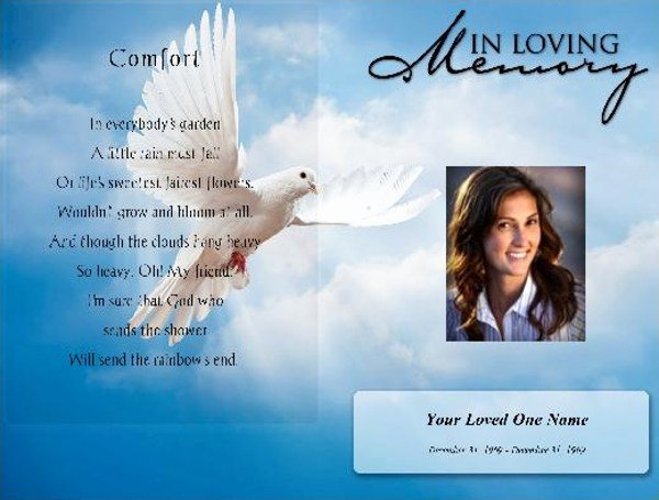 Funeral Program Templates Free Luxury Funeral Pamphlet Template Free – Free Funeral