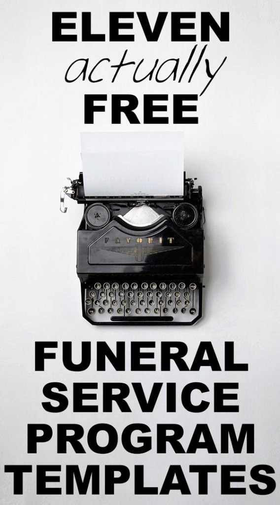 Funeral Program Templates Free Luxury Our Favorite Actually Free Funeral Program Templates