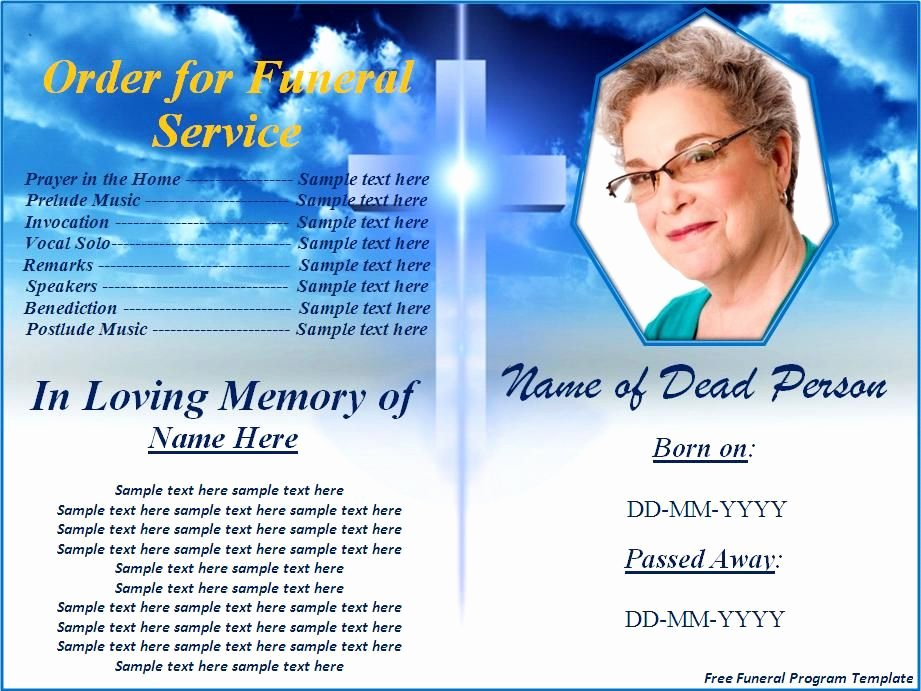 Funeral Program Templates Free Unique Free Funeral Program Templates