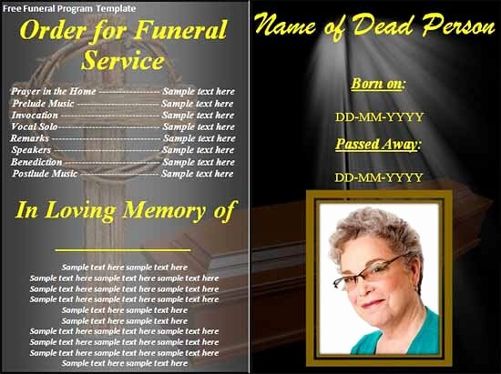 Funeral Program Templates Free Unique Funeral Program Template 30 Download Free Documents In