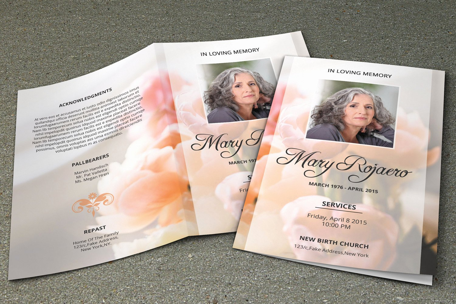 Funeral Program Templates Free Unique Funeral Program Template Obituary Template Shop and