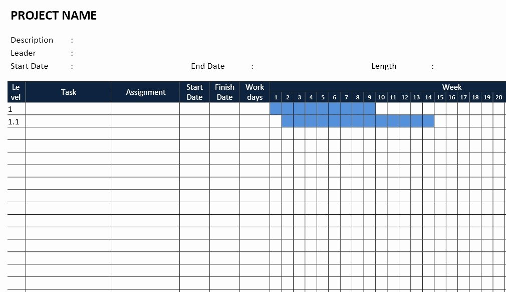 Gantt Chart Template Word Unique Gantt Chart Template