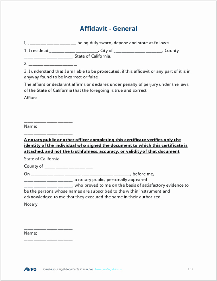General Affidavit Template Word Awesome Affidavit Definition Legal Meaning Lawyer Terms Simplified
