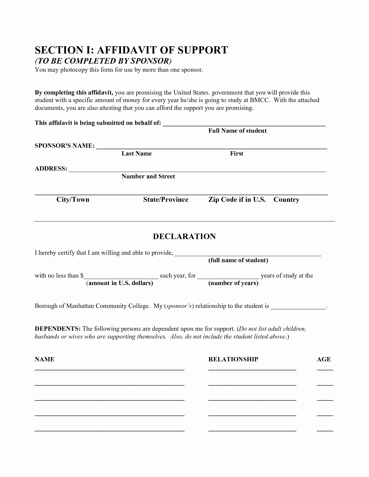 General Affidavit Template Word New Best S General Affidavit Template Free Printable