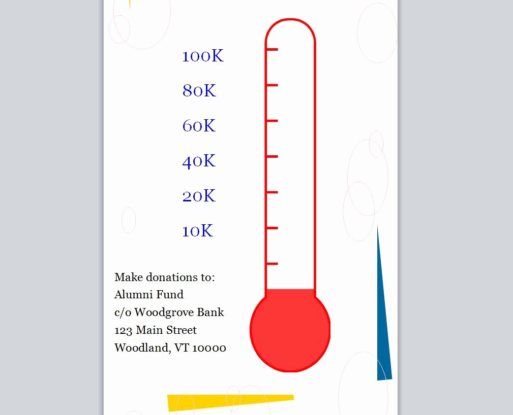 Goal thermometer Template Excel Elegant Fundraising Goal thermometer