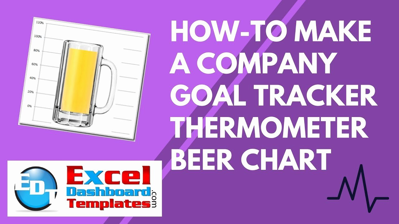 Goal thermometer Template Excel Inspirational How to Make An Excel Pany Goal Tracker thermometer Beer