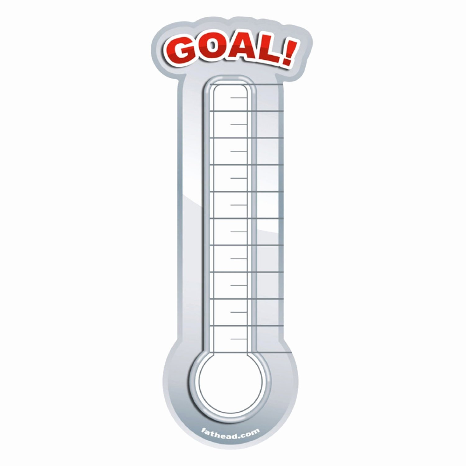 Goal thermometer Template Excel Unique Fundraising thermometer Template