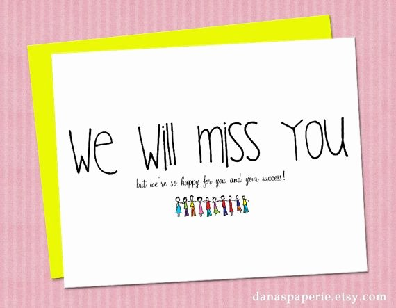 Going Away Card Template Awesome for Going Away Co Worker Quotes Quotesgram