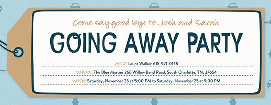 Going Away Card Template Awesome Retirement Farewell Free Online Invitations