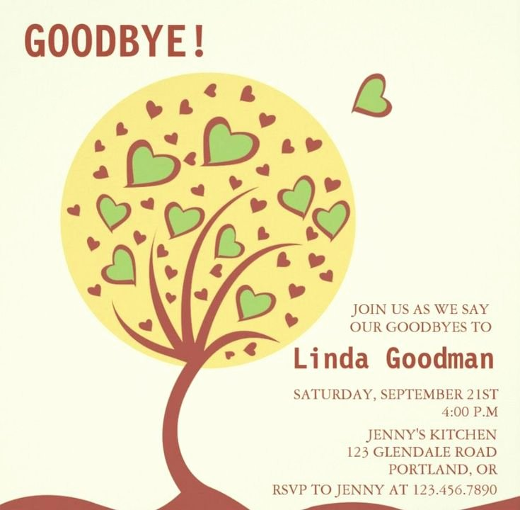 Going Away Card Template Beautiful Best 25 Farewell Parties Ideas On Pinterest