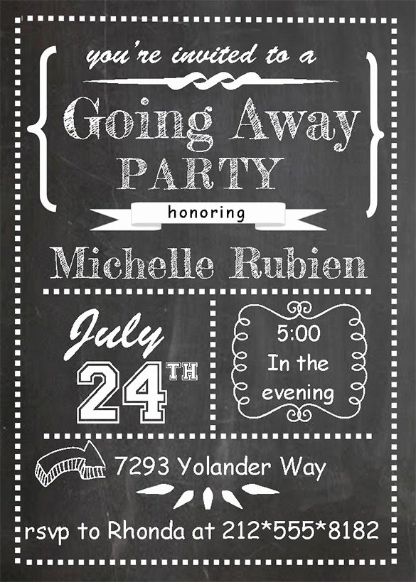 Going Away Card Template Beautiful Farewell Party Invitation Template 29 Free Psd format