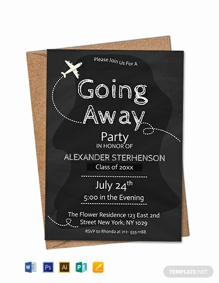 Going Away Card Template Best Of Free Printable Going Away Party Invitation Template Word