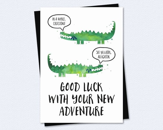 Going Away Card Template Elegant Farewell Card Goodbye Card Good Luck with Your New