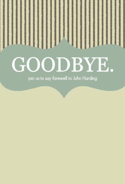 Going Away Card Template Fresh Farewell Party Invitations Goodbye Stripes Going Away