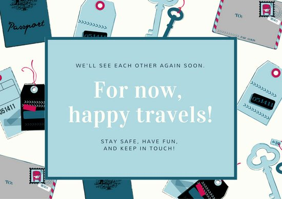 Going Away Card Template Unique Blue and Pink Passport Travel Going Away Card Templates