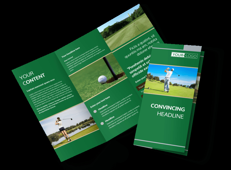Golf tournament Brochure Template Awesome Perfect Swing Golf tournament Brochure Template