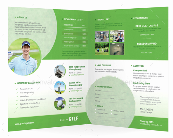 Golf tournament Brochure Template Beautiful 10 Popular Free and Premium Golf Brochure Templates