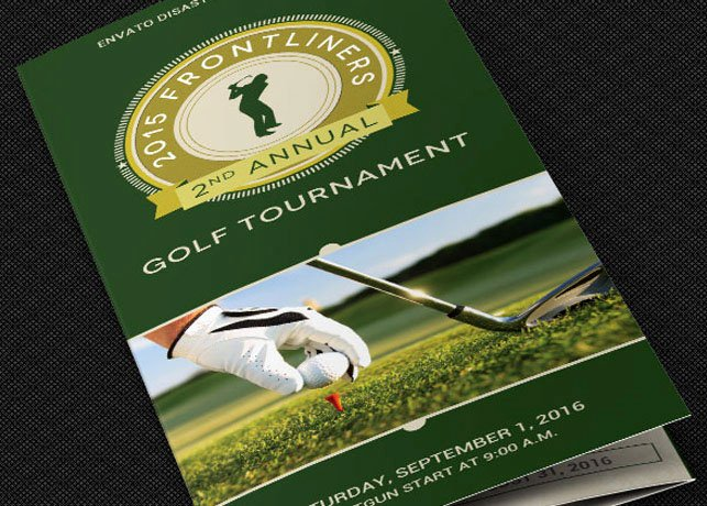 Golf tournament Brochure Template Beautiful Charity Golf tournament Brochure Template On Behance