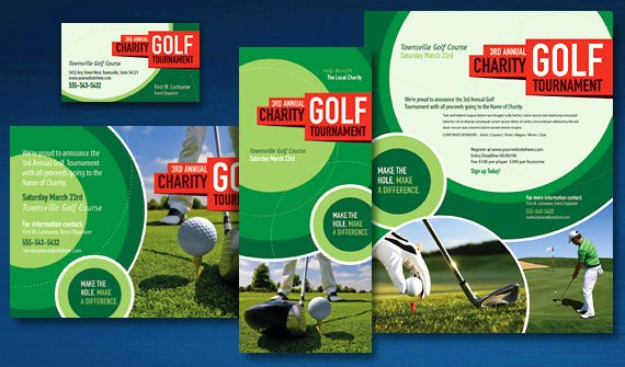 Golf tournament Brochure Template Beautiful Drive Your Charity Golf tournament Marketing with