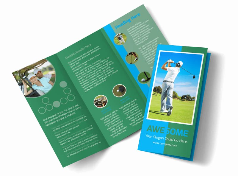 Golf tournament Brochure Template Beautiful Popular Golf tournament Brochure Template