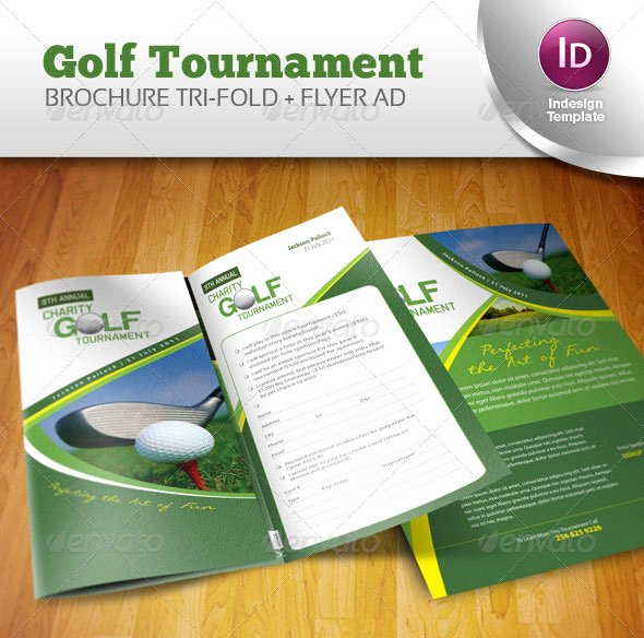 Golf tournament Brochure Template Best Of 14 Creative 3 Fold Shop Indesign Brochure Templates