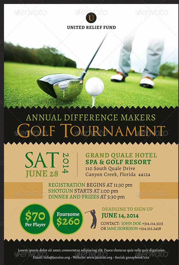 Golf tournament Brochure Template Best Of 48 Fundraiser Flyer Templates Psd Eps Ai Word