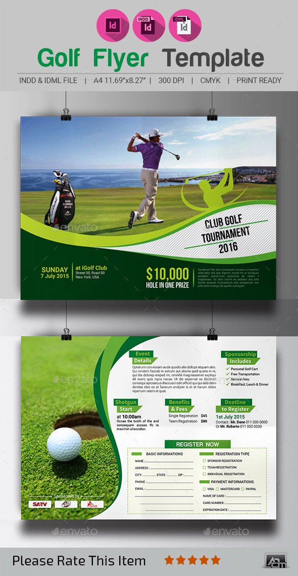 Golf tournament Brochure Template Best Of Golf tournament Flyer Template by Aam360