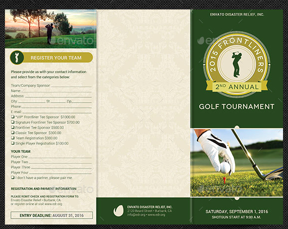 Golf tournament Brochure Template Elegant 10 Popular Free and Premium Golf Brochure Templates