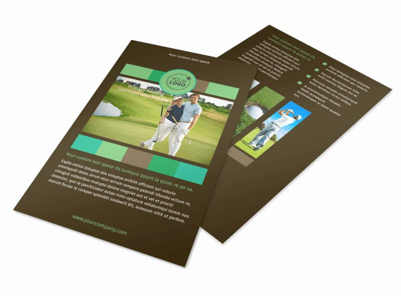 Golf tournament Brochure Template Elegant Golf tournament Flyer Template