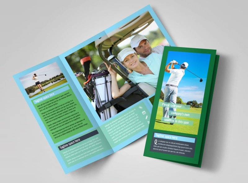 Golf tournament Brochure Template Elegant Local Golf tournament Brochure Template