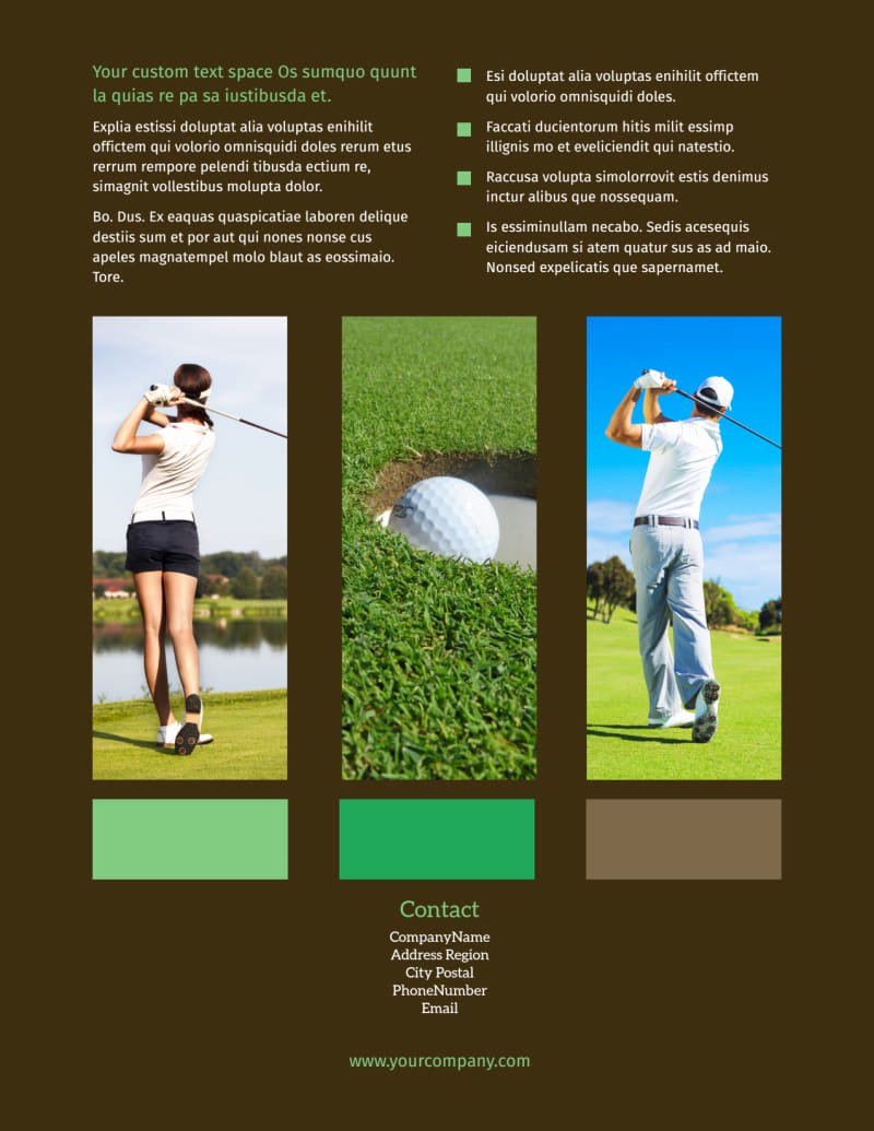 Golf tournament Brochure Template Fresh Golf tournament Flyer Template