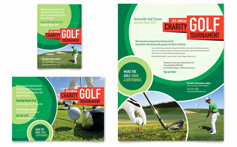 Golf tournament Brochure Template Inspirational Golf tournament Flyer & Ad Template Word & Publisher