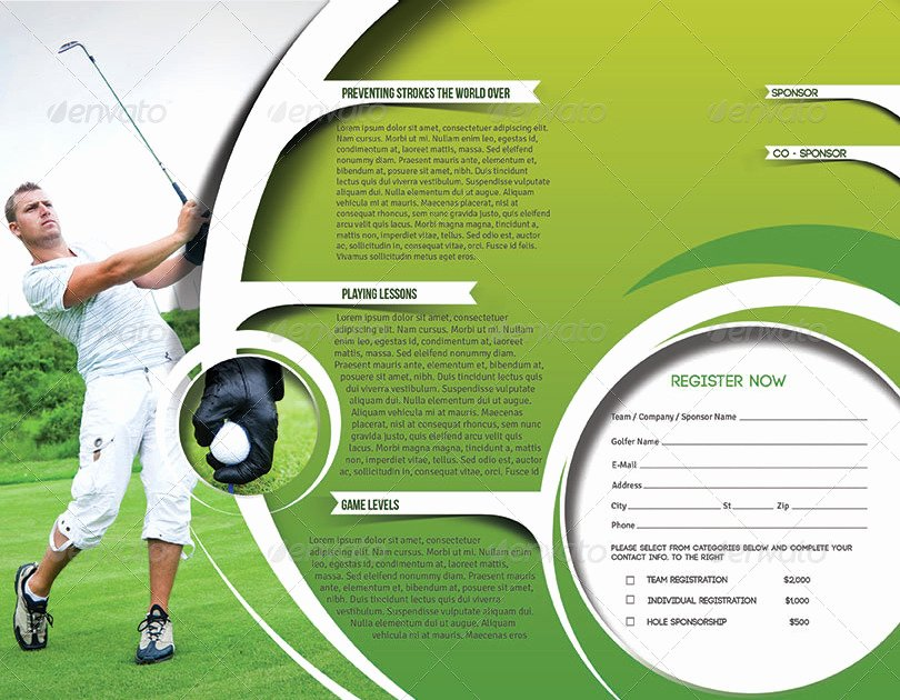 Golf tournament Brochure Template Inspirational Golf tournament Trifold Brochure Template by