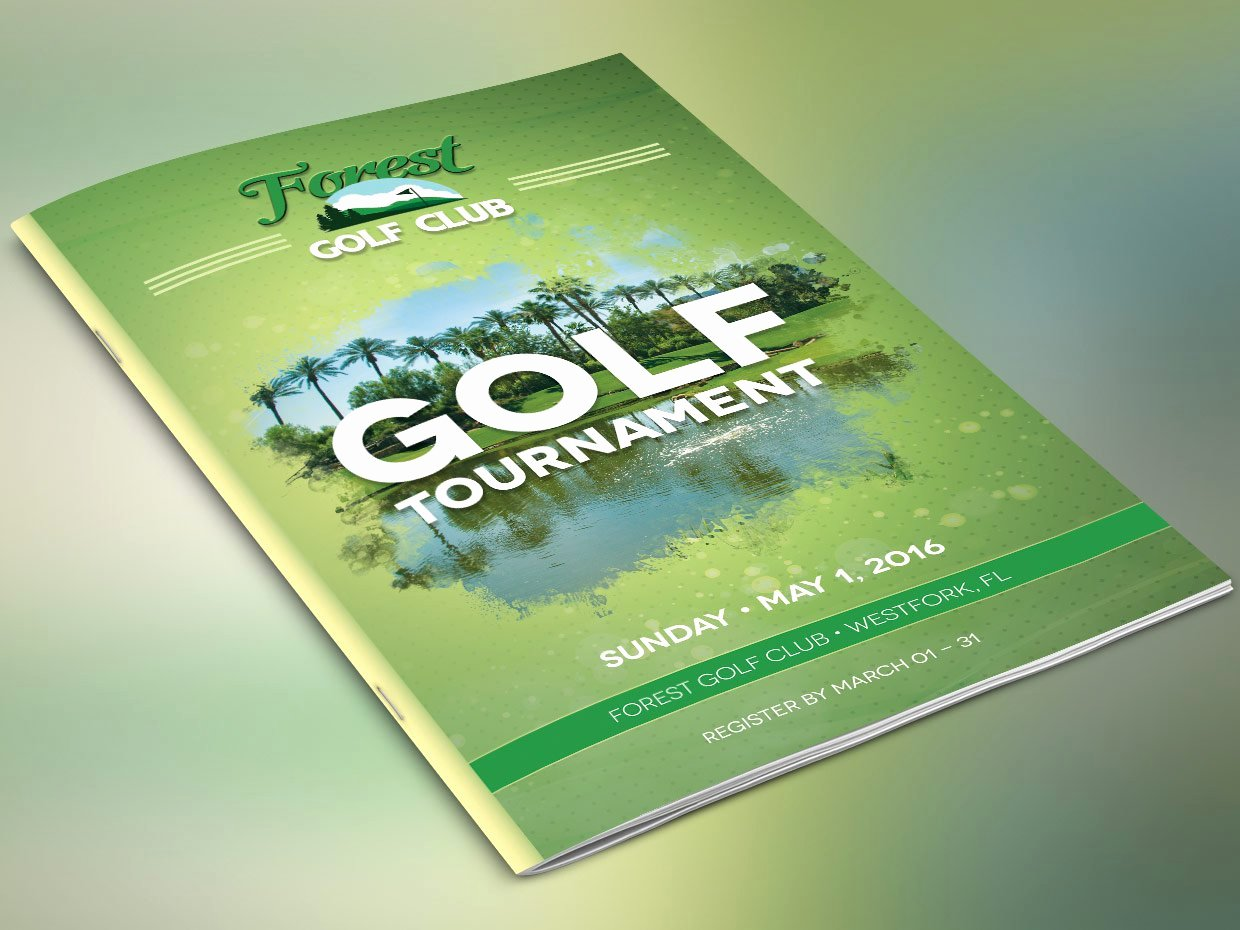 Golf tournament Brochure Template Lovely Golf Brochure Template Brochure Templates Creative Market
