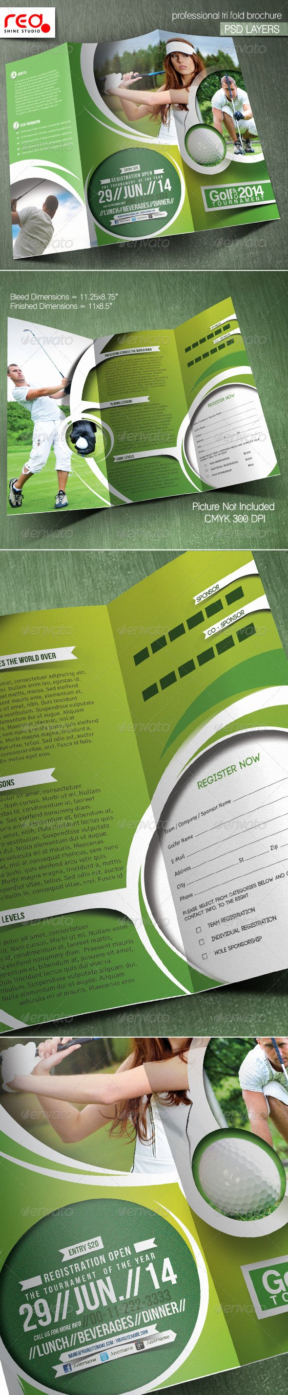 Golf tournament Brochure Template Lovely Golf tournament Trifold Brochure Template