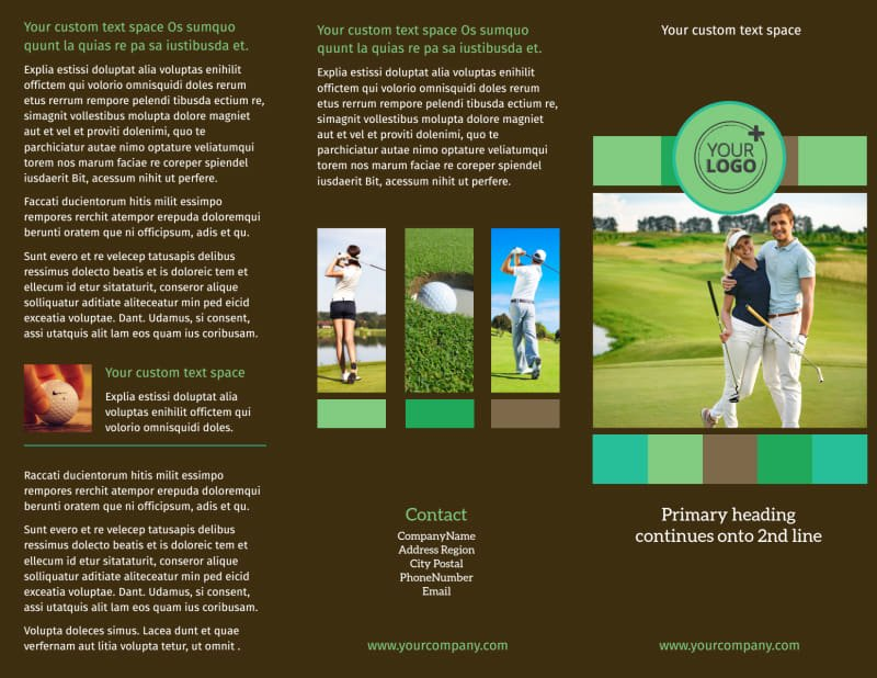 Golf tournament Brochure Template Luxury Golf tournament Brochure Template