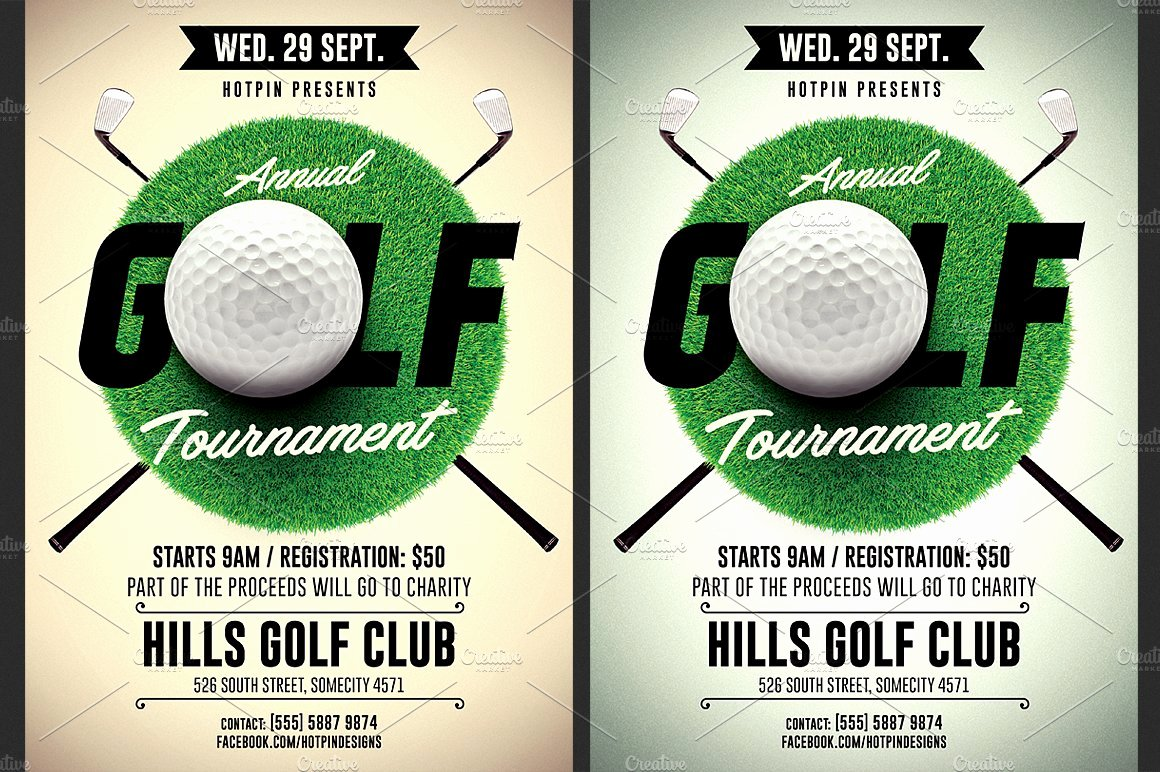 Golf tournament Brochure Template Luxury Golf tournament Flyer Template Flyer Templates