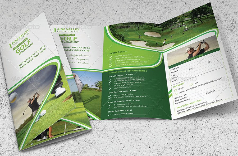 Golf tournament Brochure Template New 14 Golf Brochure Designs and Examples Psd Ai