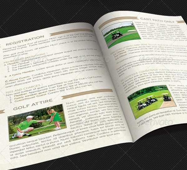 Golf tournament Brochure Template New 14 Golf Brochures Free Psd Ai Eps format Download