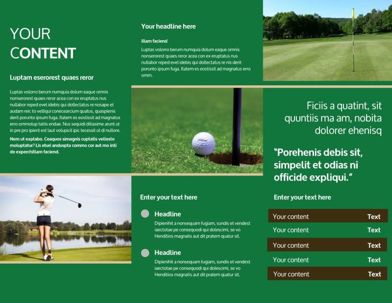 Golf tournament Brochure Template New Perfect Swing Golf tournament Brochure Template