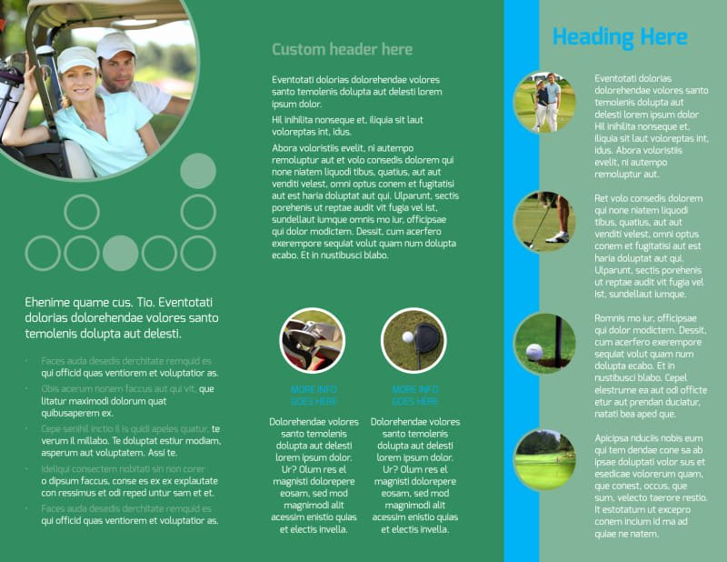 Golf tournament Brochure Template New Popular Golf tournament Brochure Template