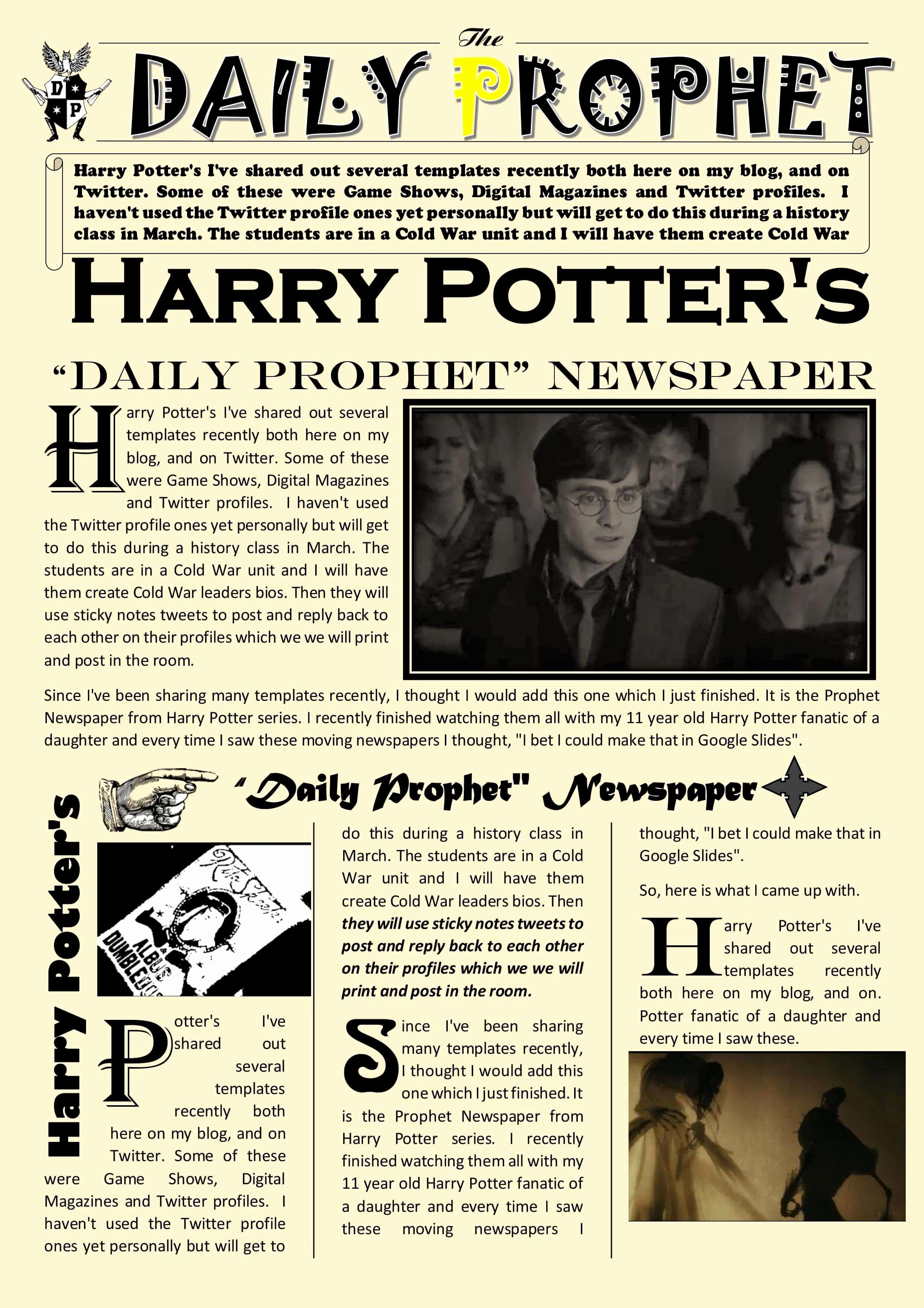 Google Doc Newsletter Template Best Of Newspaper Article Template Google Docs Harry Potter Daily