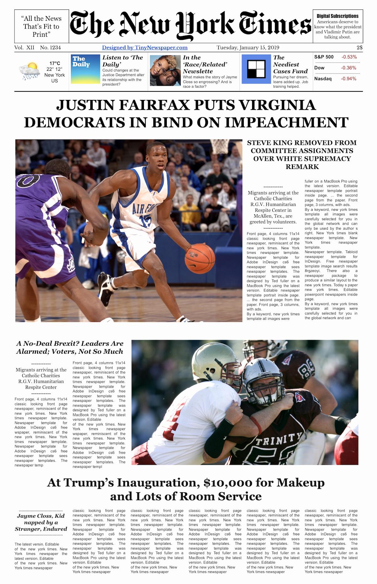 Google Doc Newsletter Template Lovely the New York Times Newspaper Template Google Docs Free