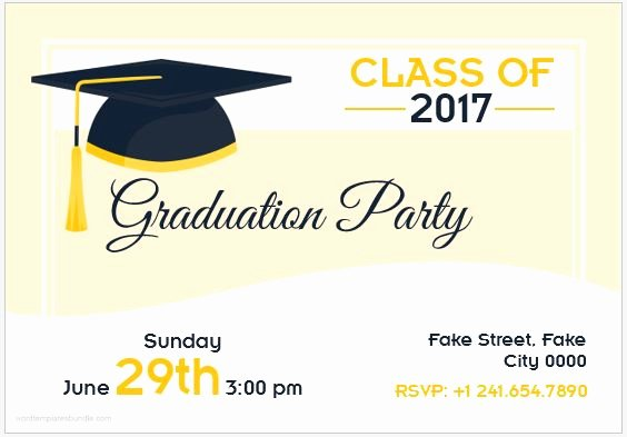 Graduation Invitation Template Word Best Of 10 Best Graduation Party Invitation Card Templates Ms Word