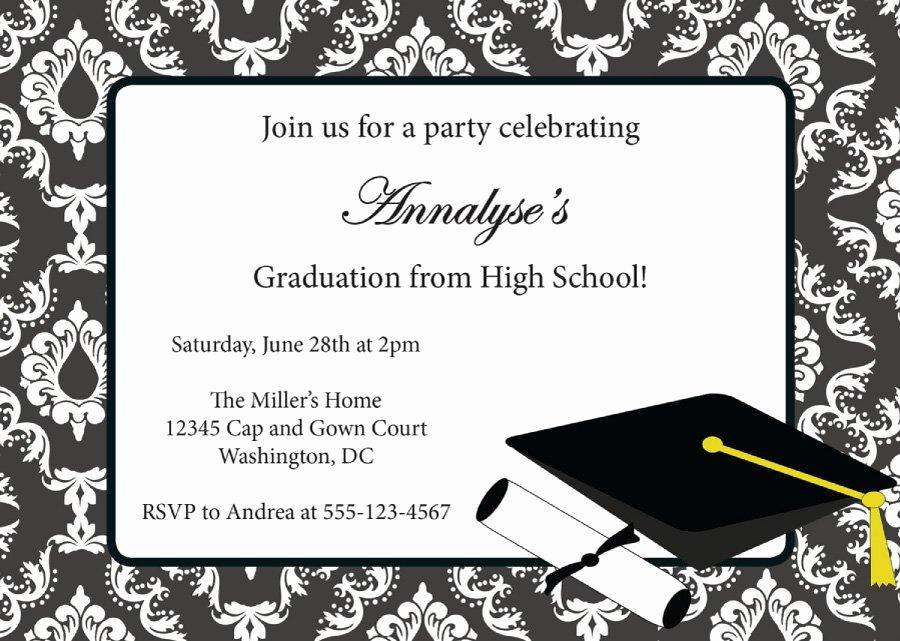 Graduation Invitation Template Word Elegant 40 Free Graduation Invitation Templates Template Lab