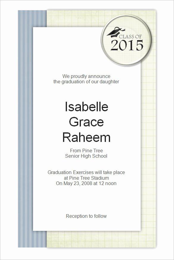 Graduation Invitation Template Word Elegant 50 Microsoft Invitation Templates Free Samples
