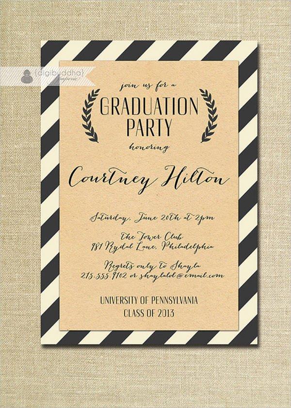 Graduation Invitation Template Word Elegant Free 11 Beautiful Graduation Invitation Templates In