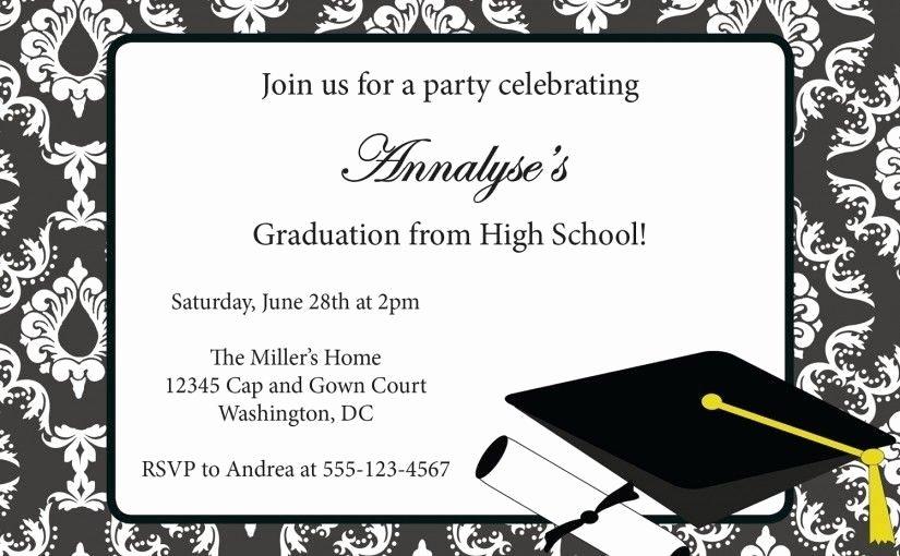 Graduation Invitation Template Word Fresh Free Graduation Announcement Templates
